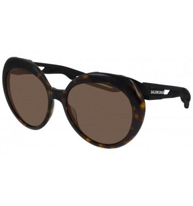 Gafas de sol Balenciaga BB0024 Havana Negro - Marrón (001)
