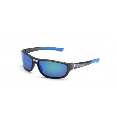 Gafas de sol Vuarnet VL1918 Negro Metalizado y Azul - Lente Gris Polar Con Espejo Azul (0008 - 1626)