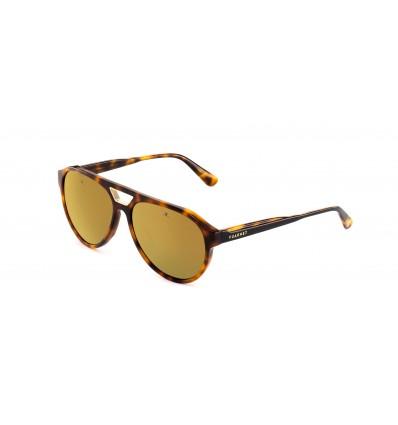 Gafas de sol Vuarnet VL1908 Havana Claro y Negro - Lente Marrón Bronce Flash (0002 - 2129)