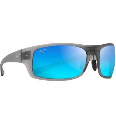Gafas de sol Maui Jim Big Wave Gris Mate Translucido - Azul Hawai (B440-11M)
