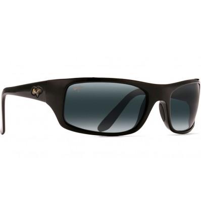 Gafas de sol Maui Jim Peahi Negro Brillo - Gris Neutro (202-02)