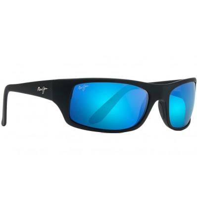 Gafas de sol Maui Jim Peahi Negro Mate - Azul Hawai (B202-2M)