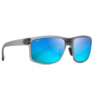 Gafas de sol Maui Jim Pokowai Arch Gris Mate Translucido - Azul Hawai (B439-11M)