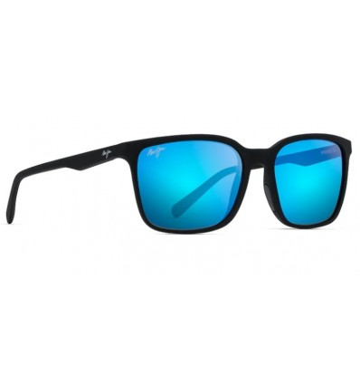 Ulleres de sol Maui Jim Wild Coast Negre Mate - Blau Hawaii (B756-02MR)