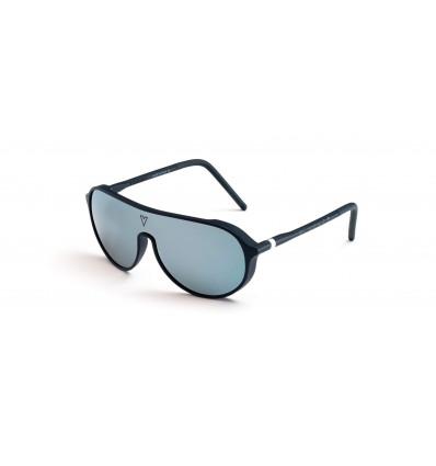 Gafas de sol Vuarnet VL1930 Azul Mate y Gris - Lente Marrón Espejo Plata Flash (0003 - 2223)