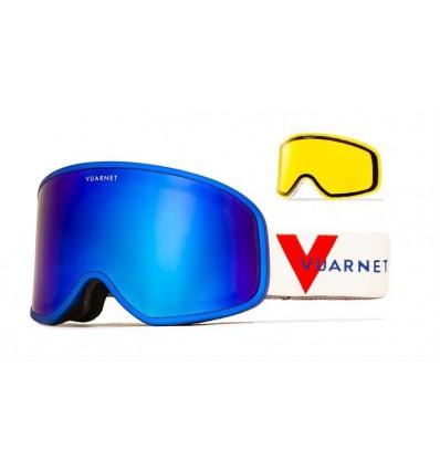 Mascara de nieve Vuarnet VM1920 Azul Metalizado - Lente Gris Espejo Azul (0003 - 1526)