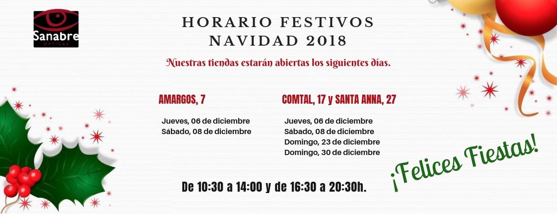 horario navidad 2018 optica